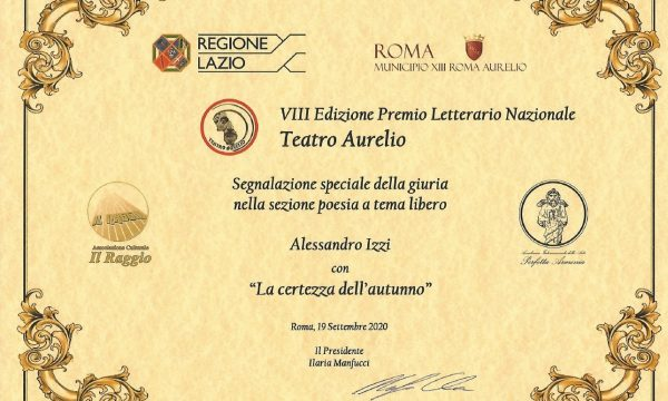 Premio Teatro Aurelio 2020